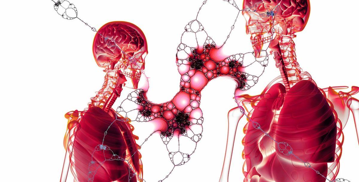 Blutzellen und normale Zellen